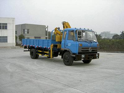 Dongfeng 153 Flat Head 6.3t Truck with Crane