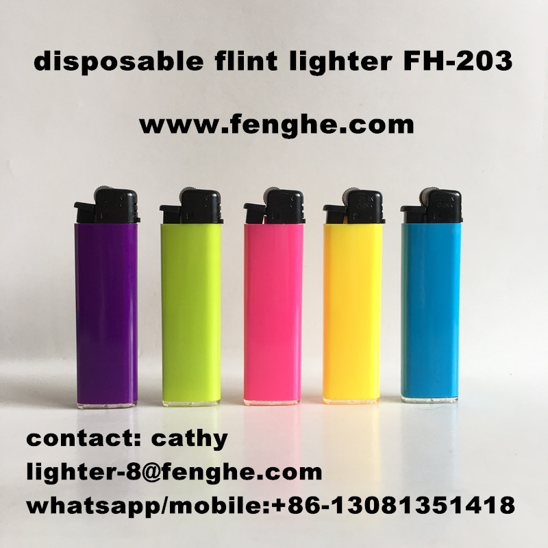 FH-203 good quality lighter dispaosble flint lighter