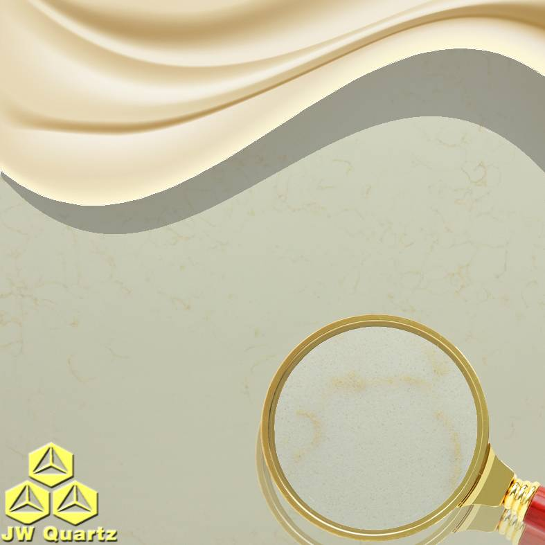 JW-5215 Beige I-High End Beige color Quartz Stone Slab for Countertop
