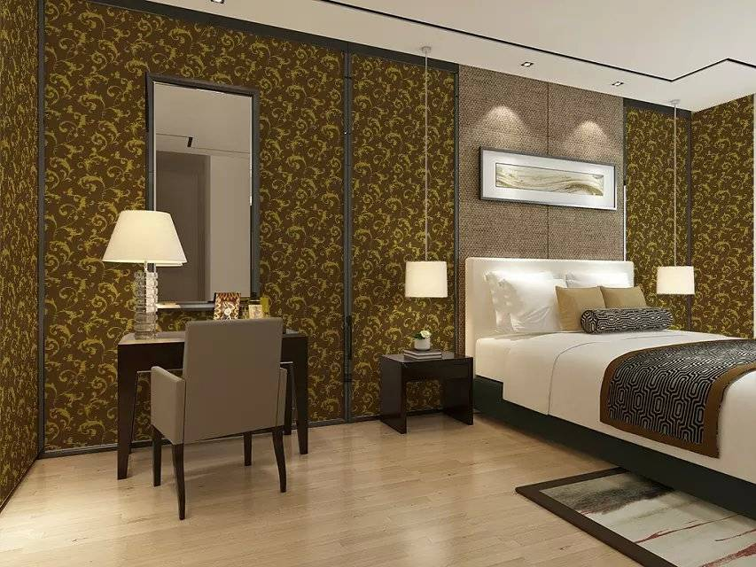 Classical Gold Foil Wallpaper with Good Breathability for Decoration