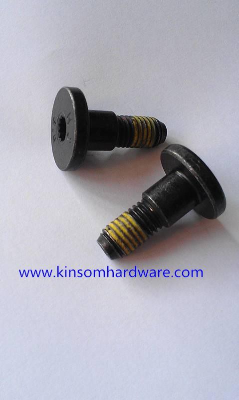 Flat head six-lobe socket step screw
