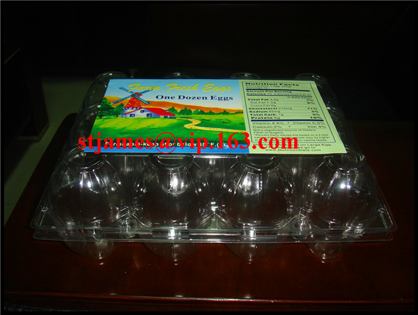 Economical strong transparent PVC 12pcs Egg Packing Tray