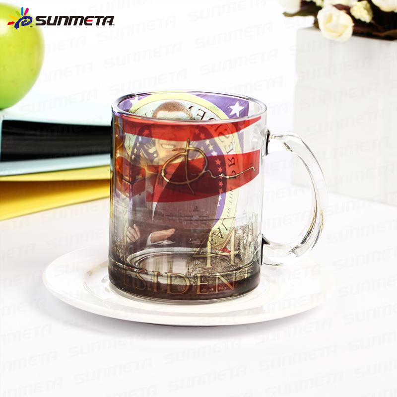 High qulaity 11oz Sublimation glass frosted mug