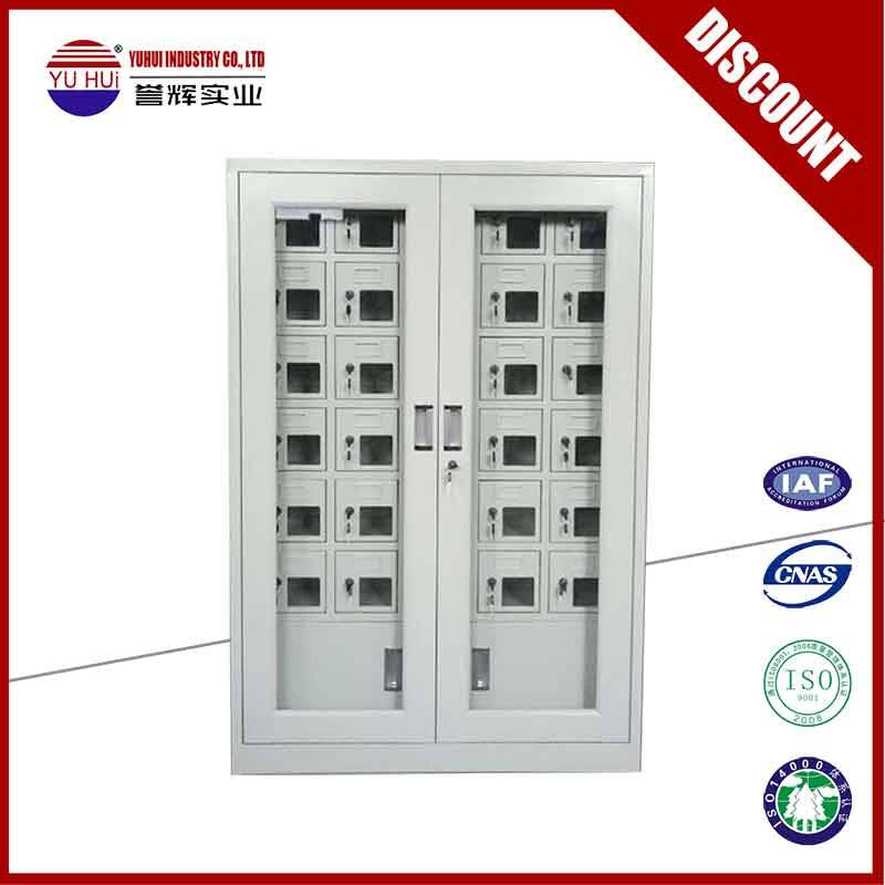 Factory direct produced charging station with lockers for mobile devices
