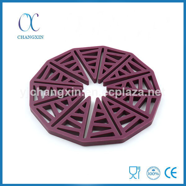 Heat Resistant Sun Shape Folding Kitchen Silicone Rubber Cup Coaster