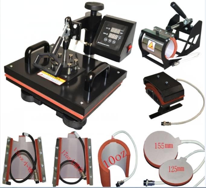 Digital 8 in 1 Combo Multifunctional Heat Press Machine