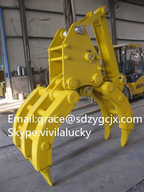 Durable excavator log Grabs, high quality, ISO certificated PC240 PC130 Log grab