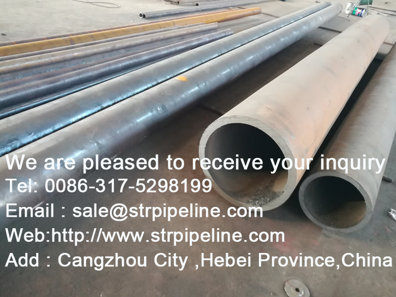 ASTM   A106  Black Carbon Seamless Steel Pipe