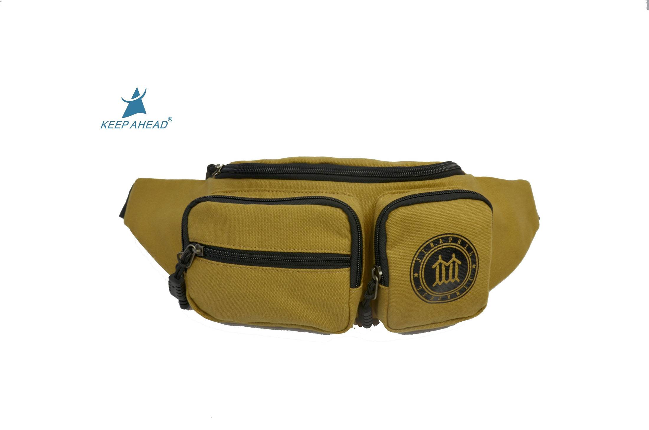 wholesale military canvas waist bag running sport fanny pack bumbag for money