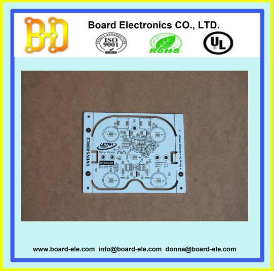 led aluminium pcb with white solder mask