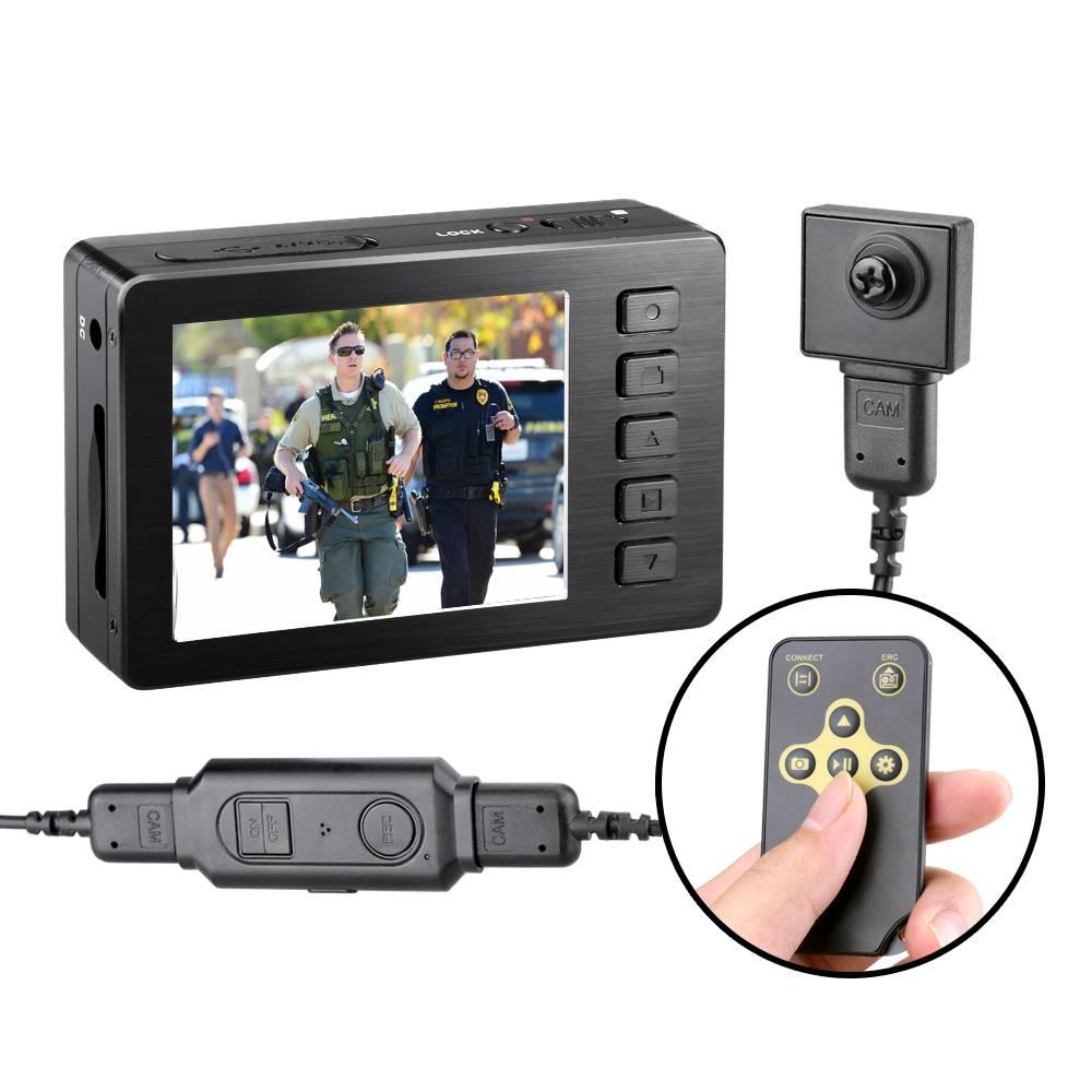 Kaynikon Law Enforcement Recorde Mini Hidden Button Camera 1080P Body Police Camera