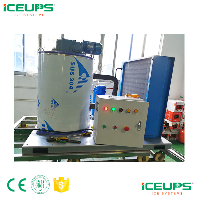 Sea water ice machine for fishing boats