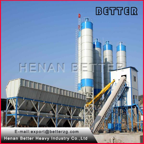 HZS90 concrete batching plant with CE certification concrete mixing plant