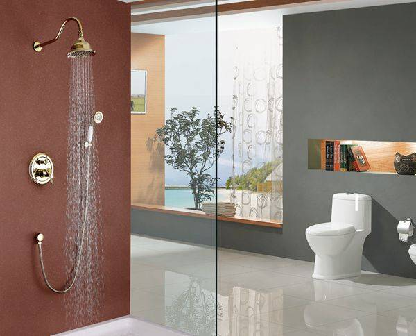 Modern chrome brass goleden in-wall bathroom concealed mixer