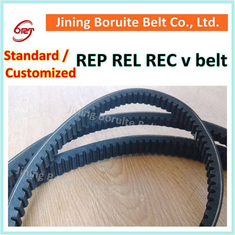 CR rubber raw edge cogged v belt / narrow v belt / wedge belt
