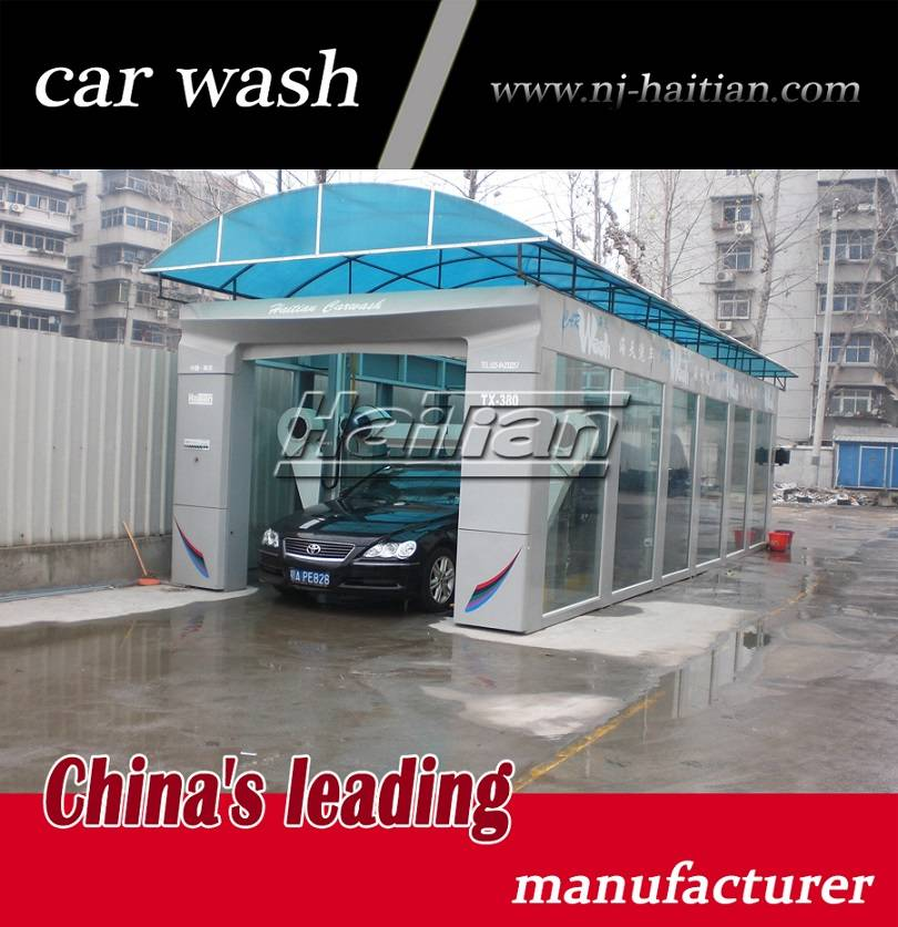 China manufactuer Haitian TX-380G tunnel wash equipment with brushes