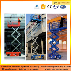 5m -12m Self propelled mobile electric scissor lift/hydraulic mobile scissor lift