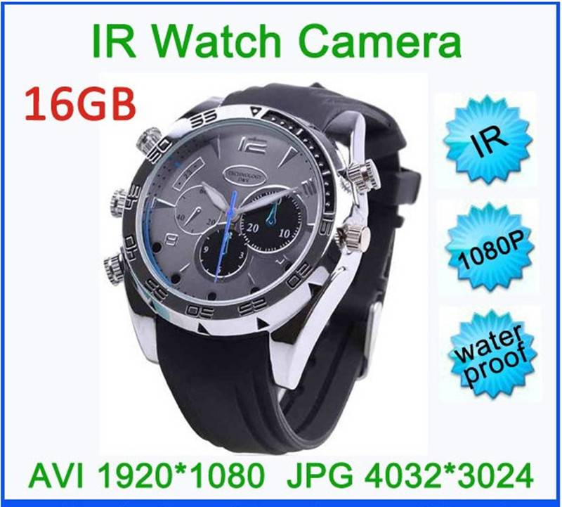 8GB digital video camera watch mini camcorder with IR function and 1920*1080 high resolution 1pcs fr