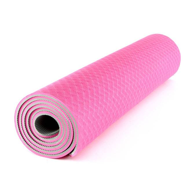 PRINTED  Yoga Premium Mat Eco-Friendly With The Best Recyclable Non-Slip and Durable TPE 6mm or 1/4""