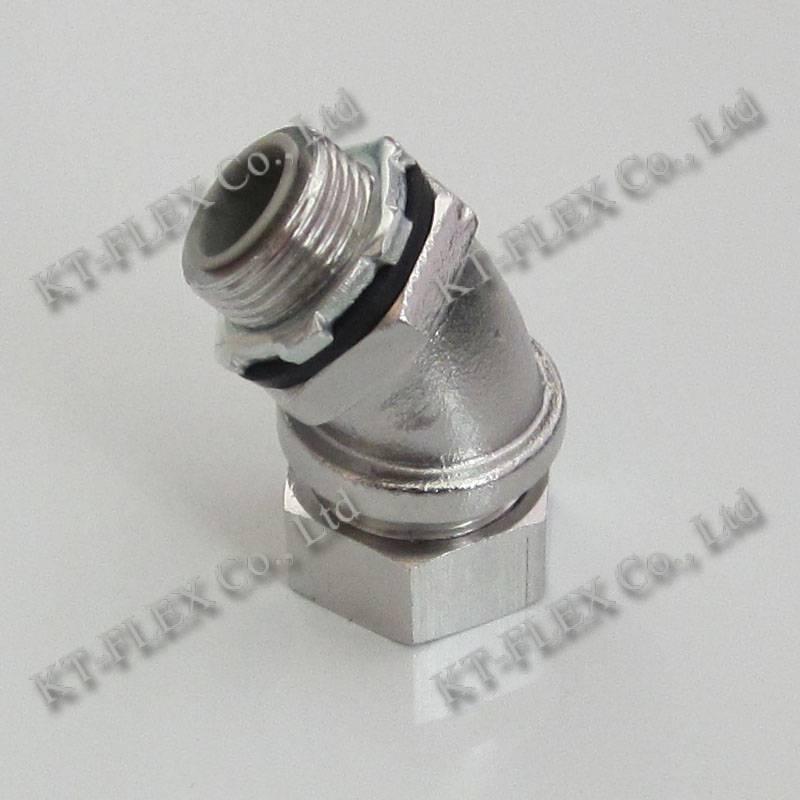 45 degree liquid tight SUS304 flexible conduit fitting