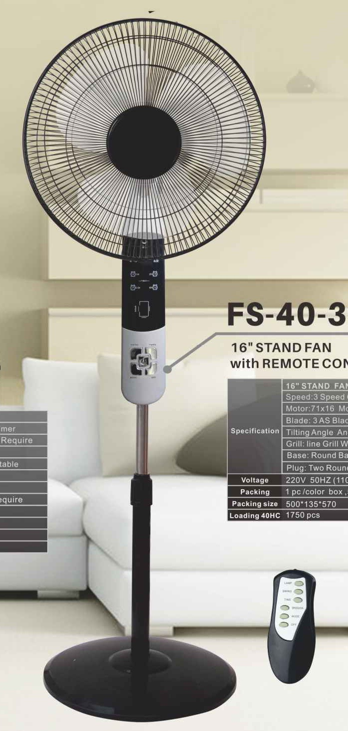 "16""Stand Fan With Remote Control"