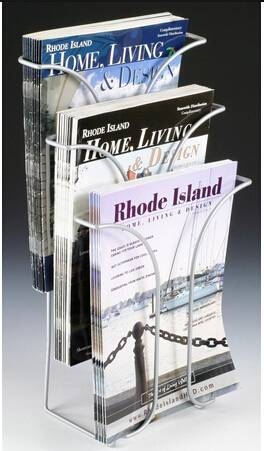 Single Pocket Literature Holder for Tabletops, Fits 8.5 x 11 Magazines, Wire - Black