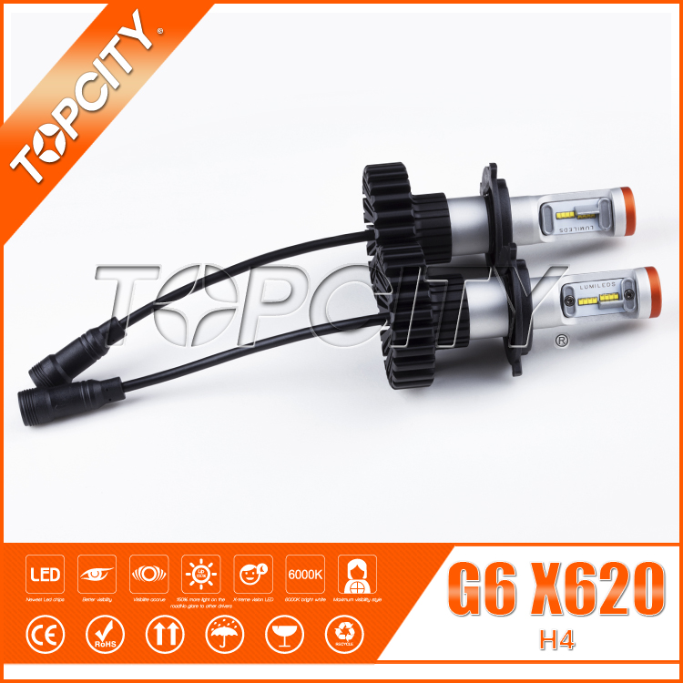 TOPCITY New update 6000lm 6G H4 LED Headlight H4 LED conversion kit