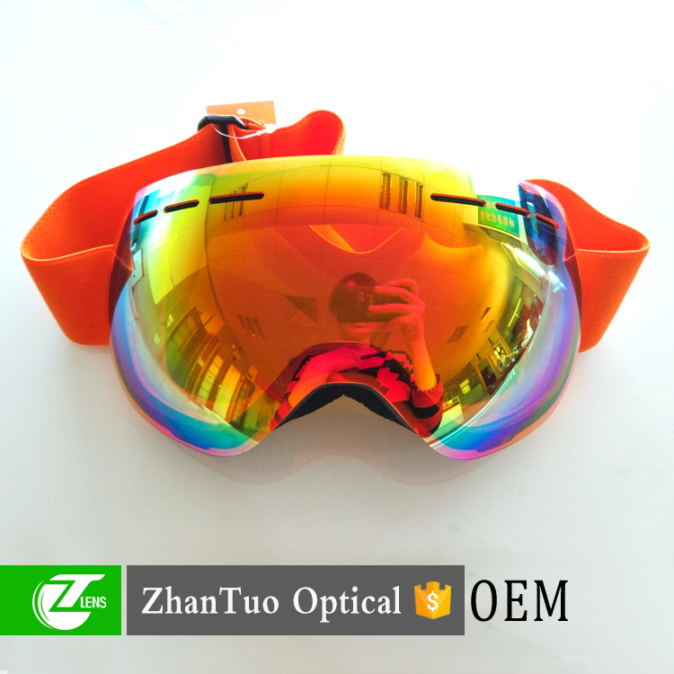 Outdoor sports safety ski sports goggle racing ski goggles with logo