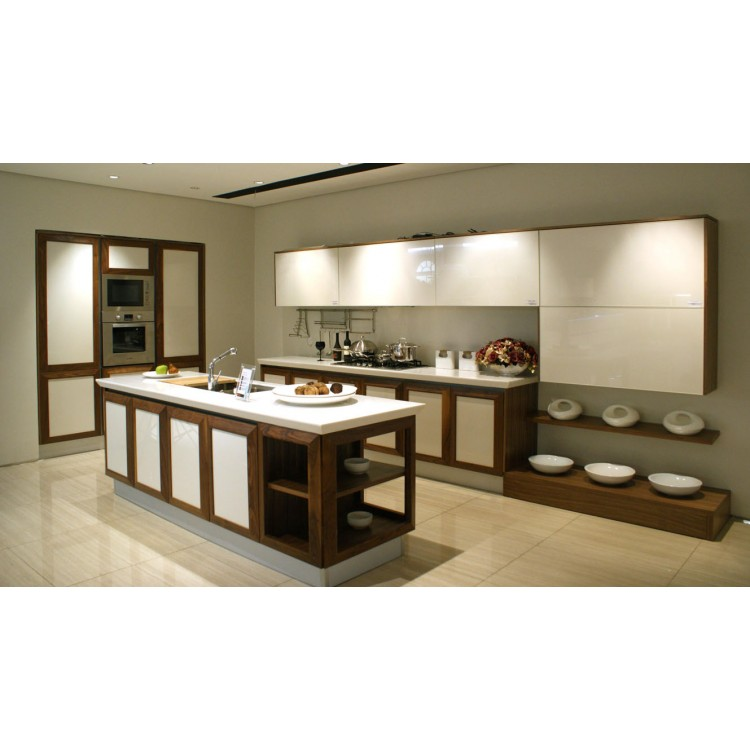 Contemporary Lacquer Style kitchen cabinet in classic style K009