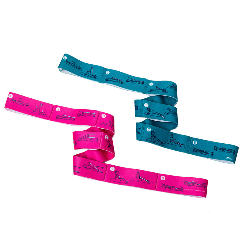 Elastic loop yoga strap lacing resistance bands yoga posture stretching strap