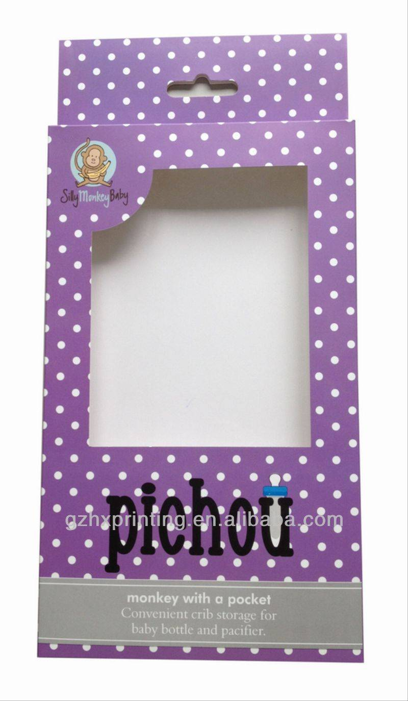 Cheap Hair packaging box with window, promotional hair extension packaging