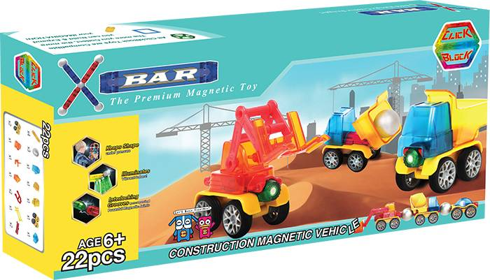 X-BAR CITY CONSTRUCTION Educational magnetic block toy