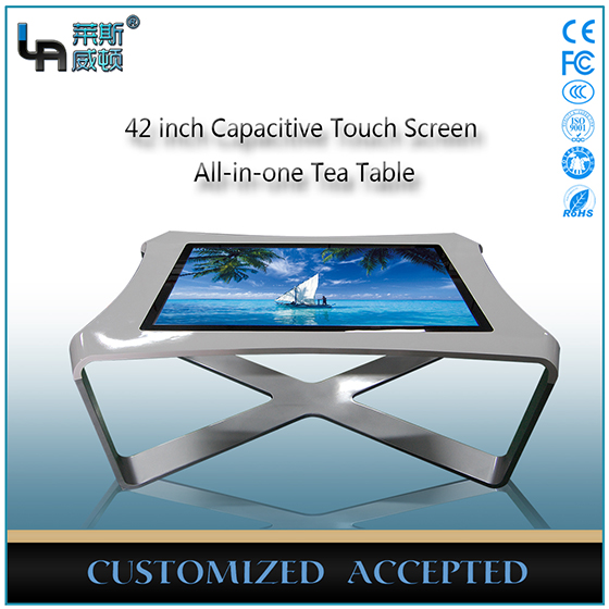 LASVD 42 inch Interactive table with glass top Capacitive Touch Screen All-in-one coffee table