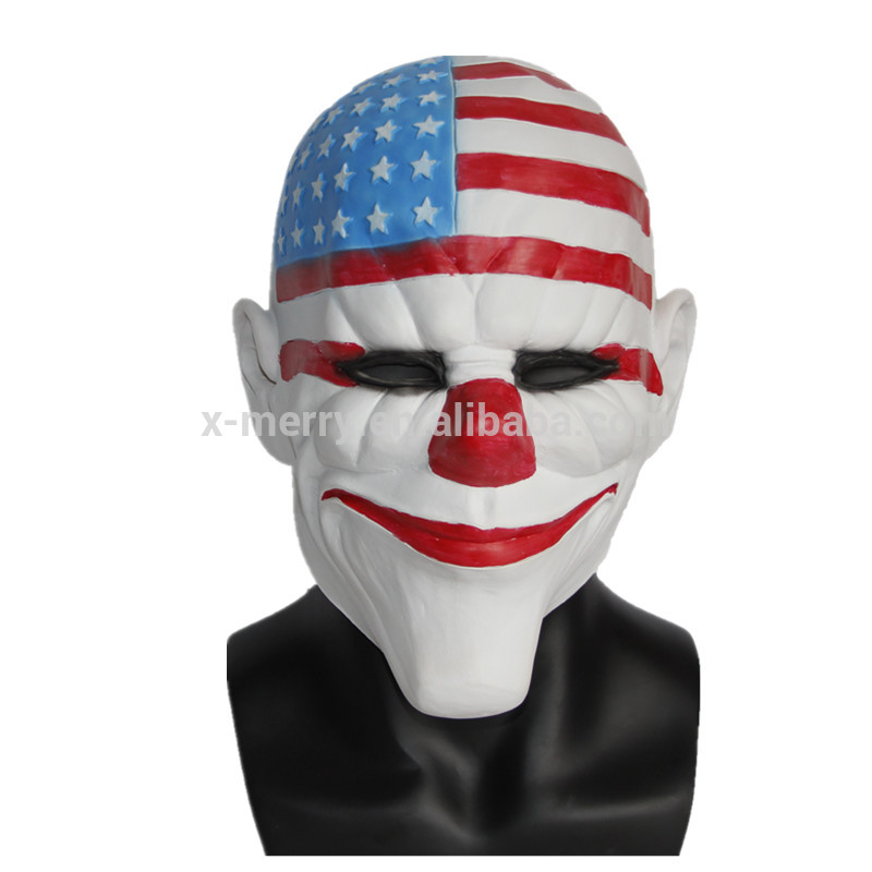 X-MERRY TOY High Quality Halloween Funny Clown Face Party Latex Mask x12049