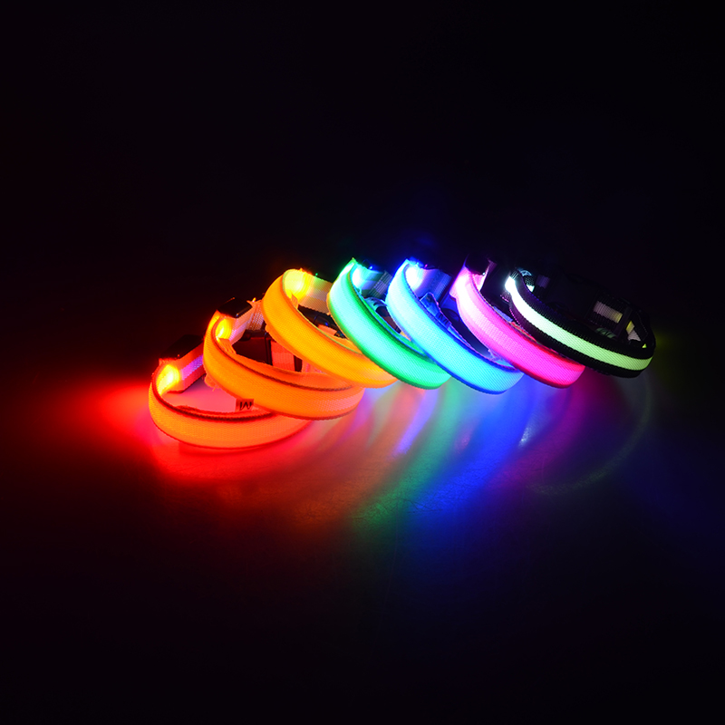 7 flashing colors led dog collar pet supplier factory products