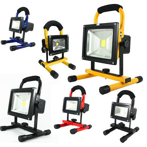 LED flood light waterproof 20W IP65 Portable rechargeable outdoor