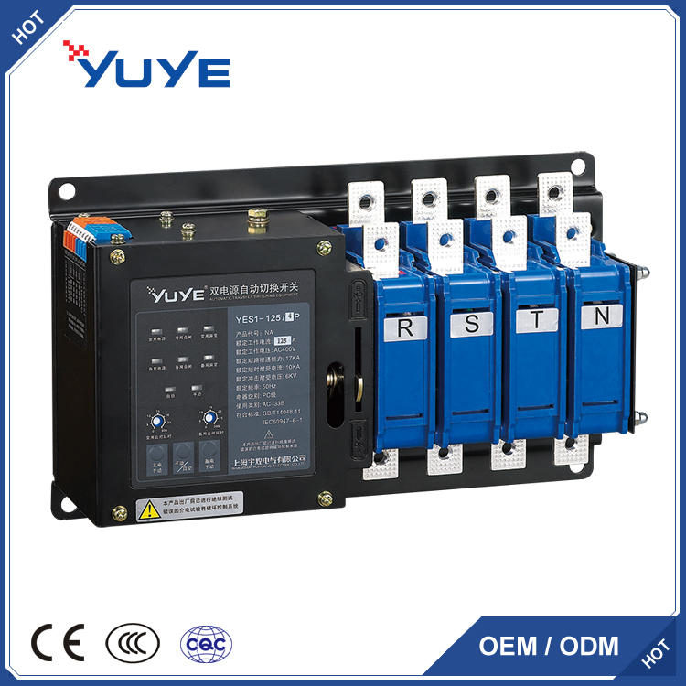 3P/4P 125a automatic transfer switch ATS/changeover switch