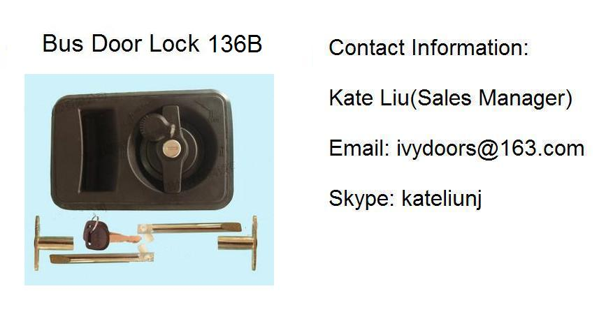 Out swing bus door lock assembly 136B(Toyota Coaster ,ANKAI,YUTONG,KING LONG)