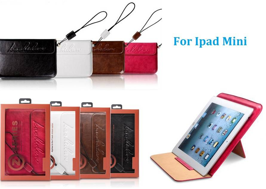 Sell 2013 new hot selling PDA pad mini leather case with cord