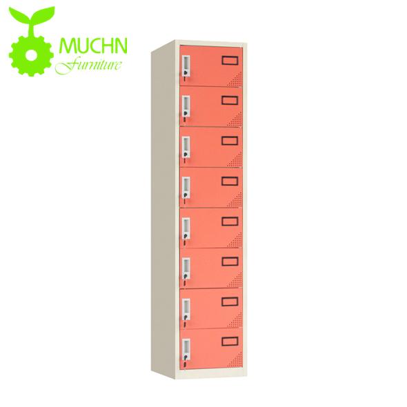 Muchn Office Furniture All Steel Colorful 8 Compartment Metal Locker Storage Wardrobe