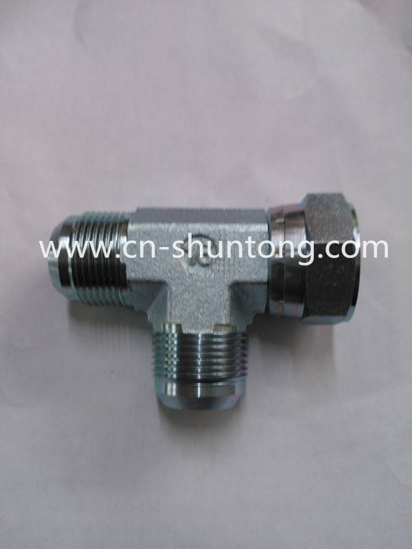 hydraulic fitting/ hydraulic hose adaptor/Jic Male & Jic Female Branch Tee