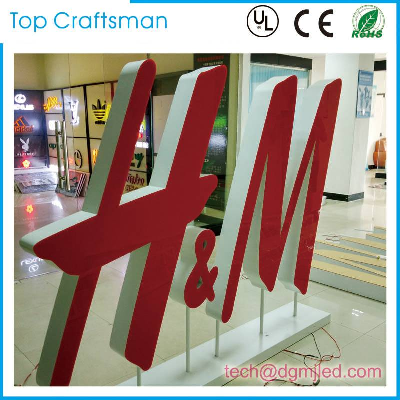 Brightness Illuminated Customized led channel letter shop sign