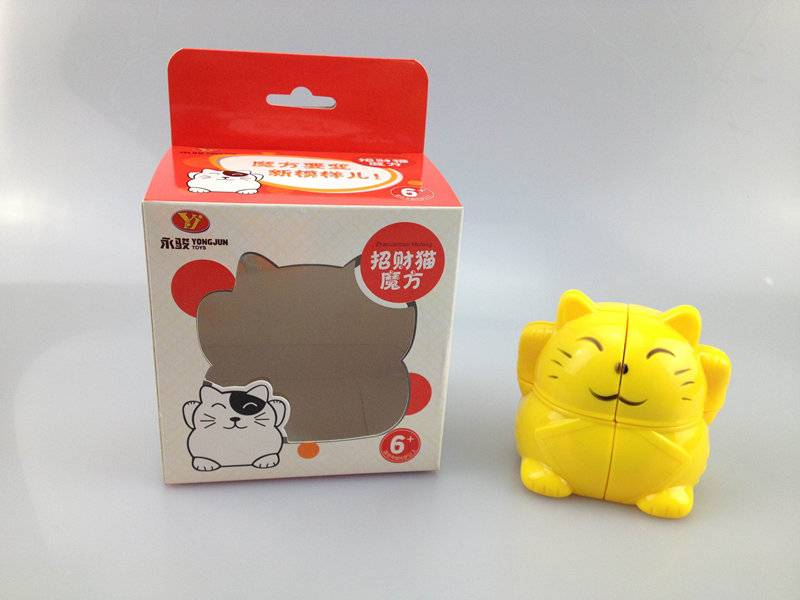 Promotional Gifts Plastic Magic Toys Puzzle YJ Lucky Cat 2×2