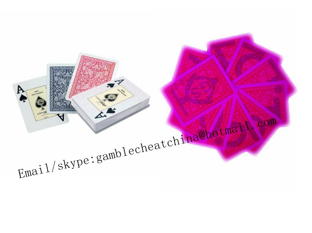 Fournier 2818 plastic luminous marked playing cards/contact lenses/uv ink/magic trick/cards cheat