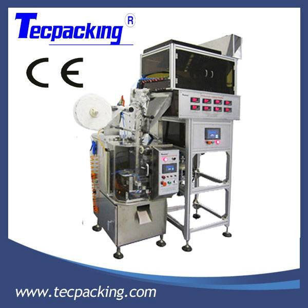 Automatic pyramid/pillow nylon tea bag packing machine