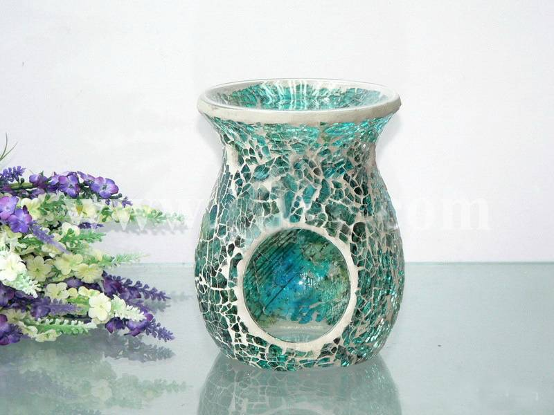 Candle holder mosaic glass perfume oil burners