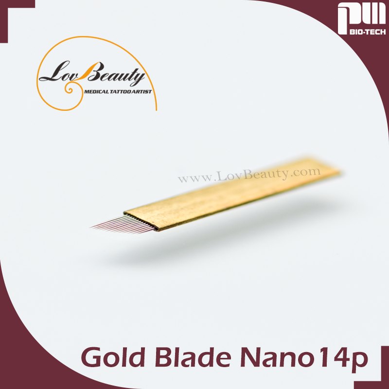 Microblading Gold Hard Embroidery PMU Blades For Eyebrows