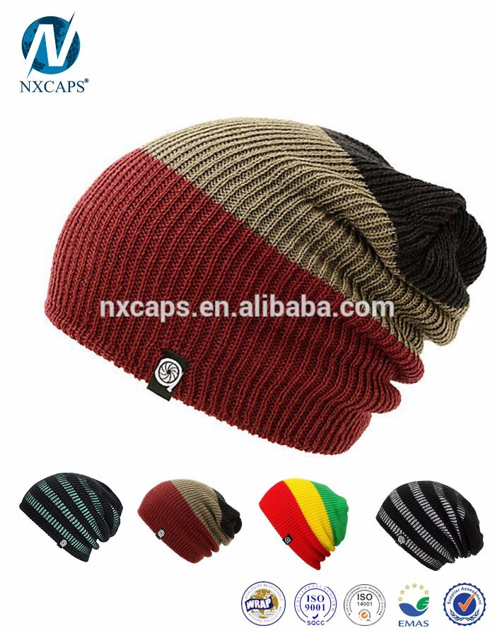 Crochet rasta beanie tam hat Jamaica colorful rasta hat knitting