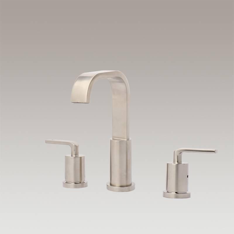Two handle wide spread bathroom faucet