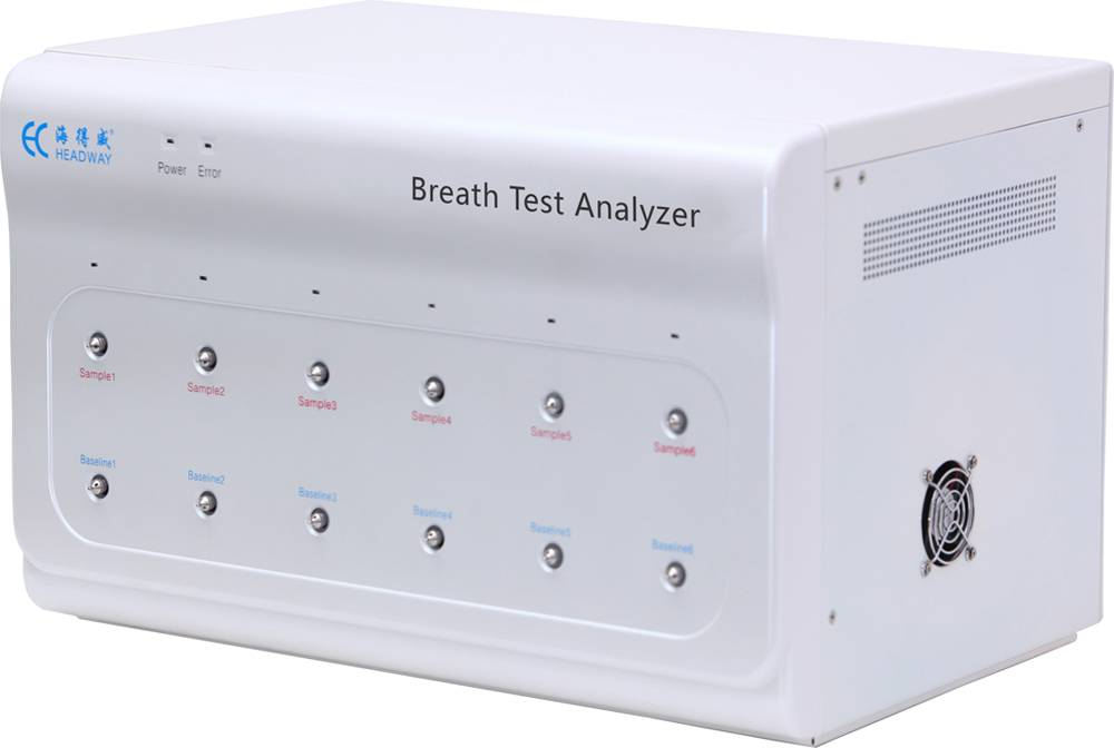 13C urea breath test analyzer for H pylori diagnosis
